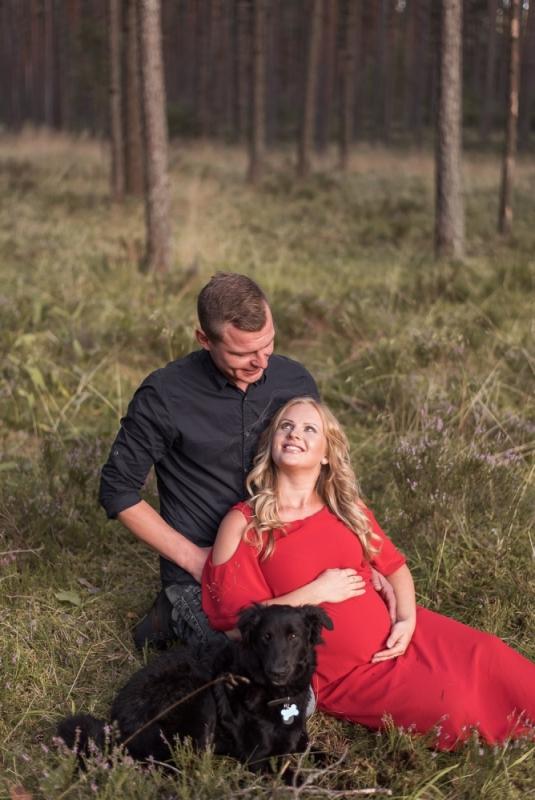 Ģimenes Gaidību Grūtnieču Pāru Fotosesija Dāvana Labākā Mīlestība