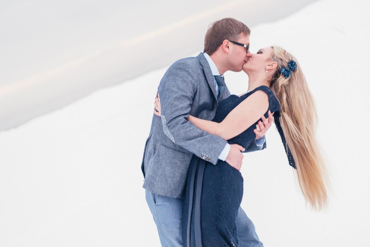 Ģimenes Pāru Fotosesija  Labākā Dāvana Jubilejā Mīlestība Sniegā
