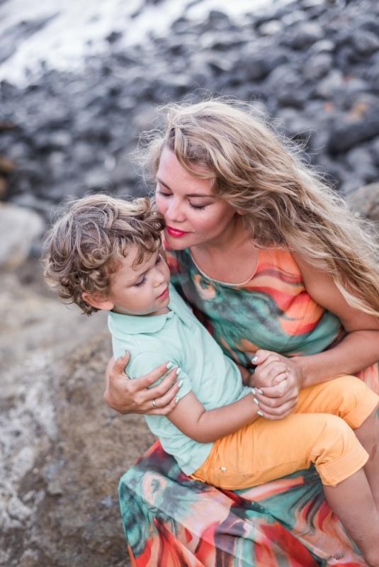 Mamma Dēls Dāvana Labākā Bērnu Ģimenes Fotogrāfs Tenerife Ceļojums