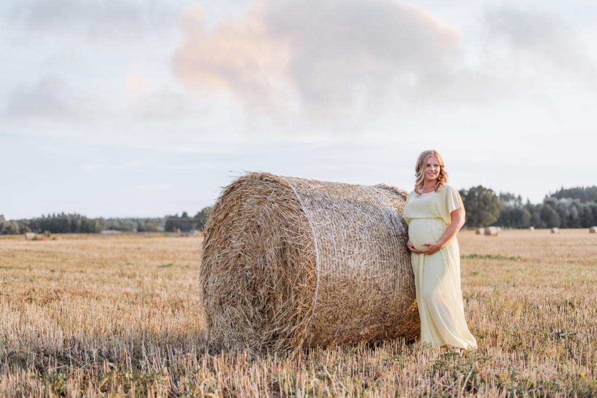 Vasaras Grūtniecības Grūtniece Punča Fotosesija Tērpu Noma Kleita Siens