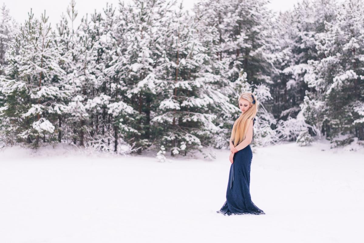 Ziema Sniegs Interesanta Ideja Fotosesijai Dāvanai Sievai Draudzenei