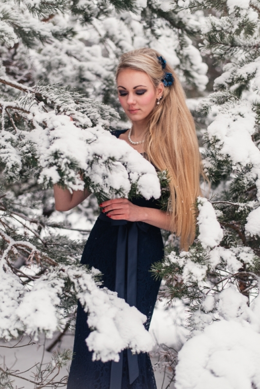 Ziema Sniegs Interesanta Ideja Fotosesijai Dāvanai Sievai Make-up