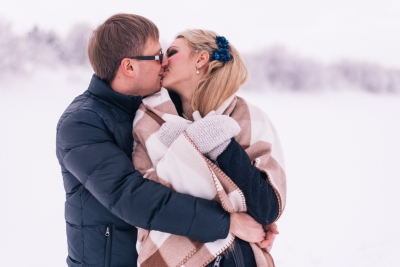 Ģimenes Pāru Fotosesija Labākā Dāvana Jubilejā Mīlestība Fotogrāfs Ziemā